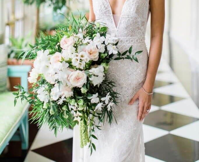 Bridal bouquet in Southern Bride and Groom