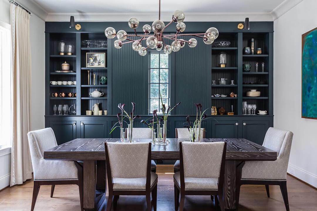 Modern Dining Room with Lilies