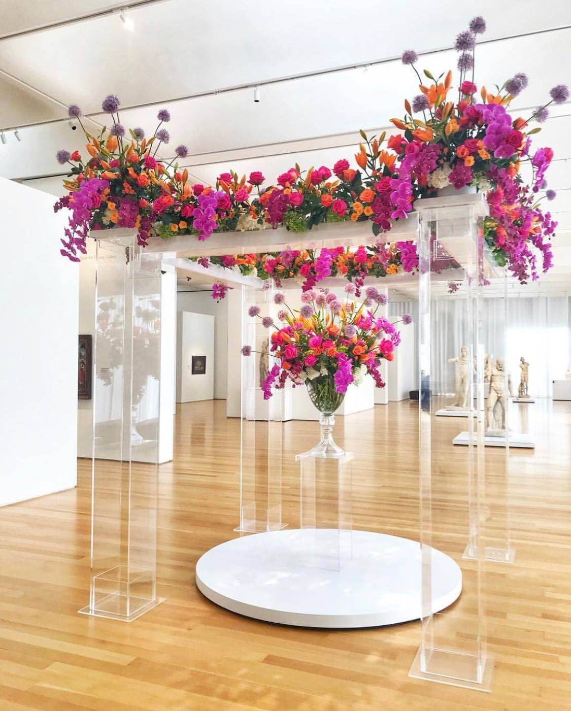 Art In Bloom floating floral display at North Carolina Museum of Art