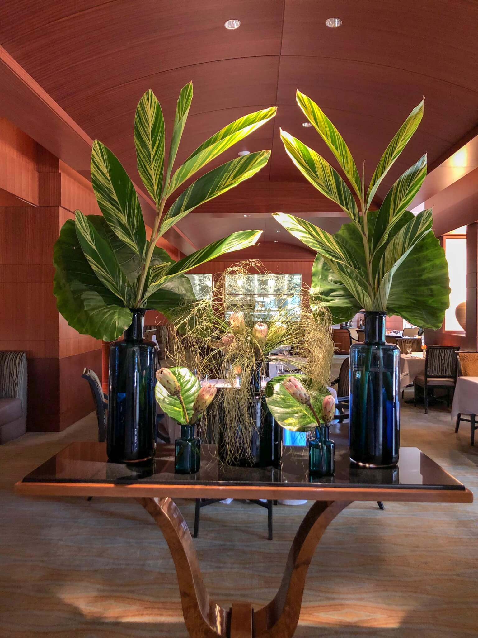 Tropical display at The Umstead Hotel and Spa