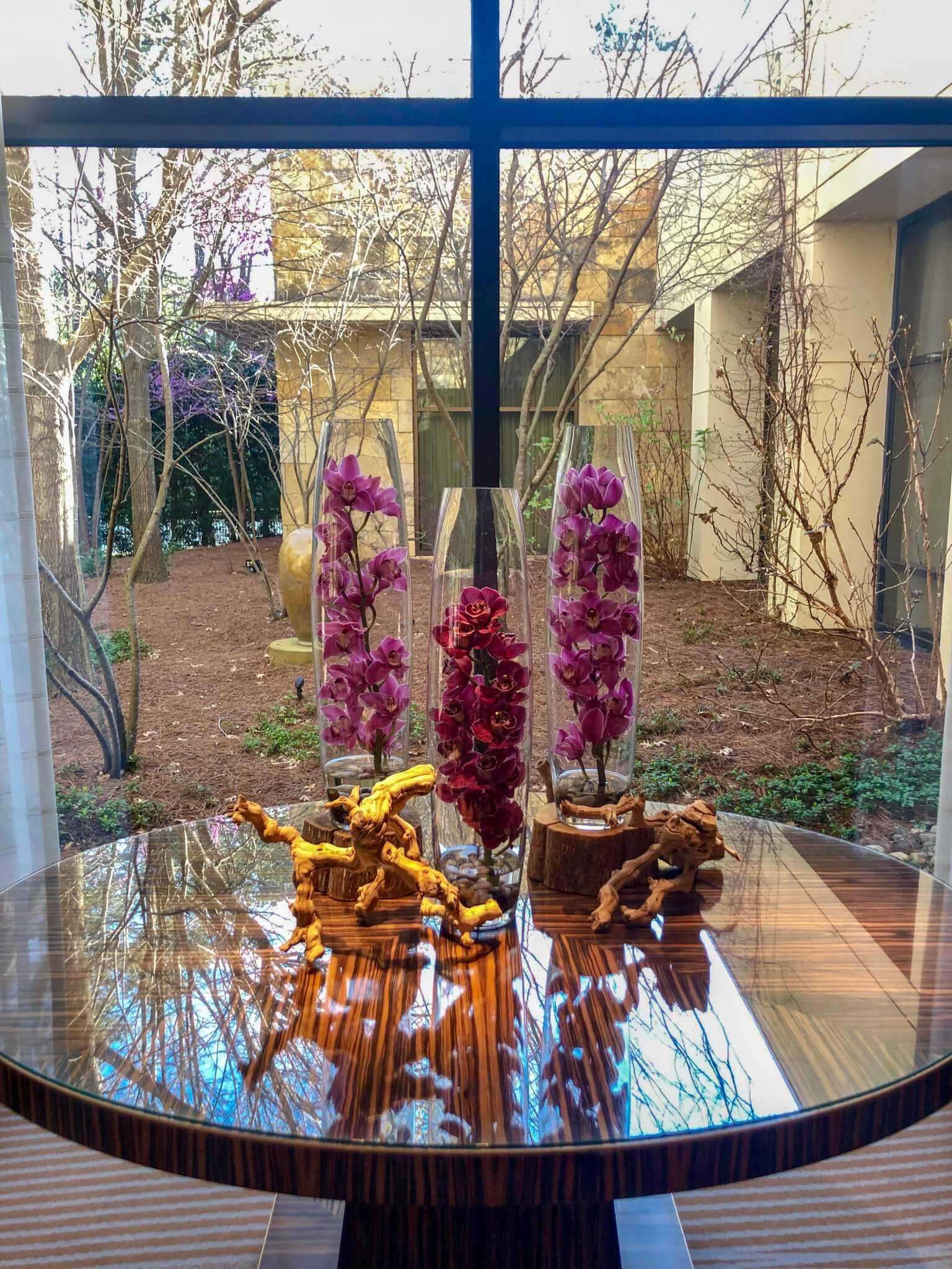 Orchid display at The Umstead Hotel and Spa