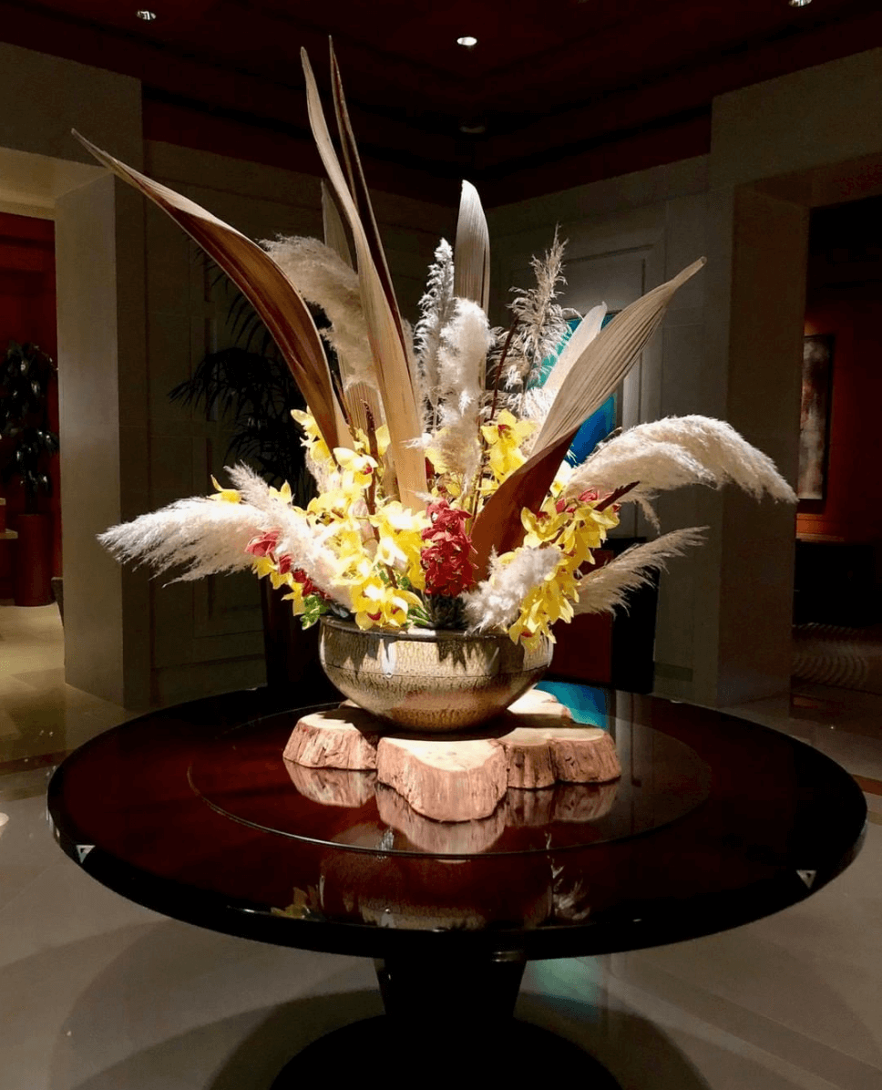 Thanksgiving floral display at The Umstead Hotel and Spa